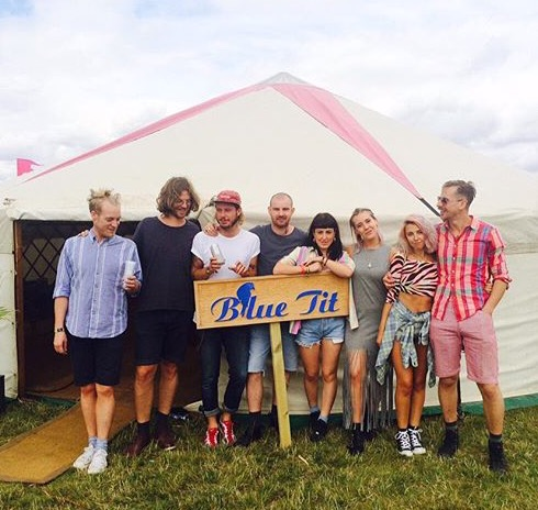 boutique festivals blue tit tent