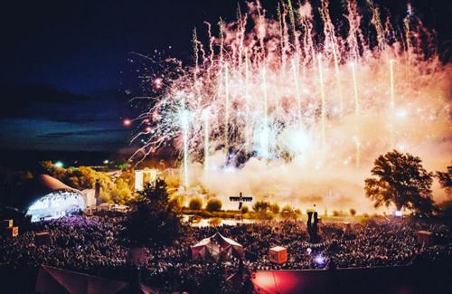 summer festival fireworks